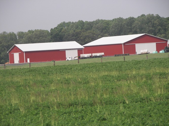 60' x 100' and 80' x 180' ag buildings for equipment storage, Woodstown, Pennsylvania