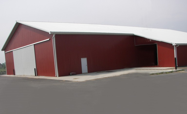80' x180' Agricultural Building with 22' ceiling clearance and 40' wide split siding door, Woodstown, NJ