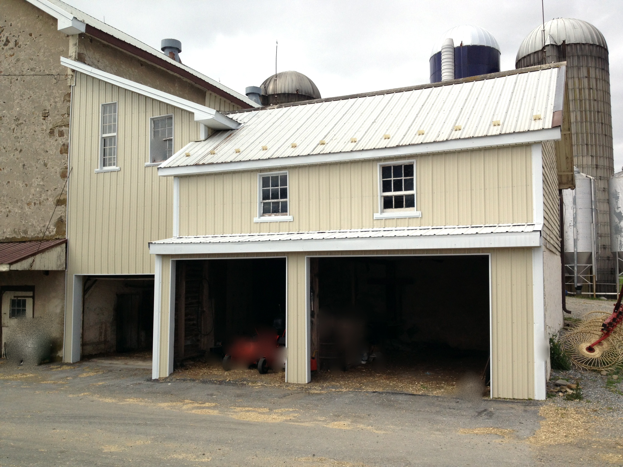 New metal siding on  100 yr old barn in Elverson, PA