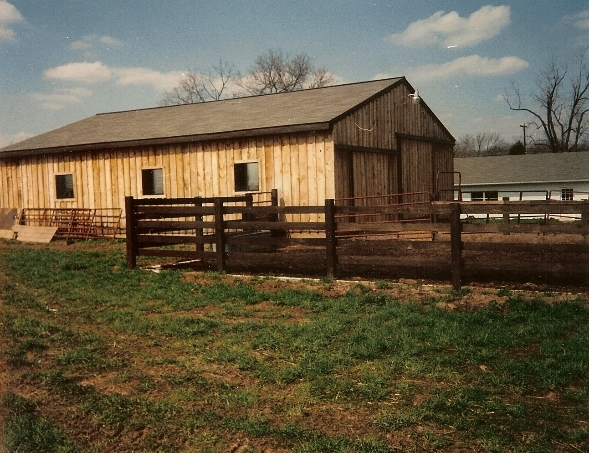 Cow Stables with Shingled Roof, Trumbaursville, PA