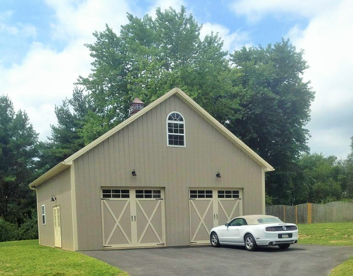 34x32 Two car garage with attic truss second floor, in Downingtown PA