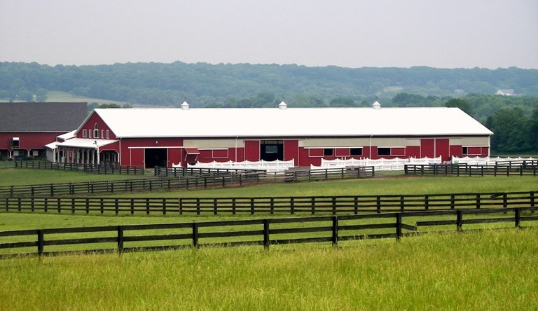 200' x 80' Equestrian Riding Arena with Upstairs Living Quarters, Cinnabar Farms, Perkasie, PA