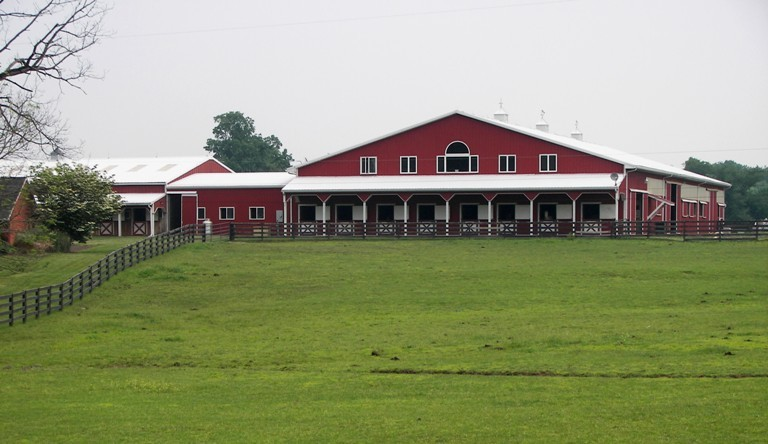 200'x 80' Horse Riding Arena with Upstairs Living Quarters, Cinnabar Farms, Perkasie, PA