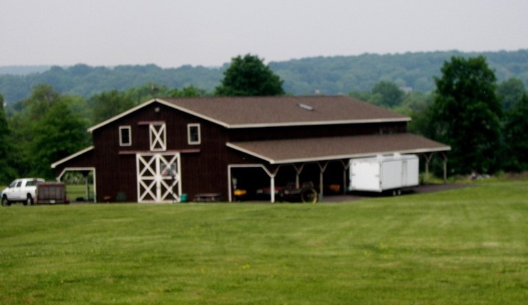 Horse Barn with Living Quarters on Second Floor