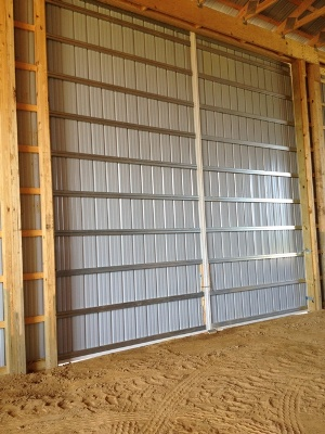 All steel construction sliding doors