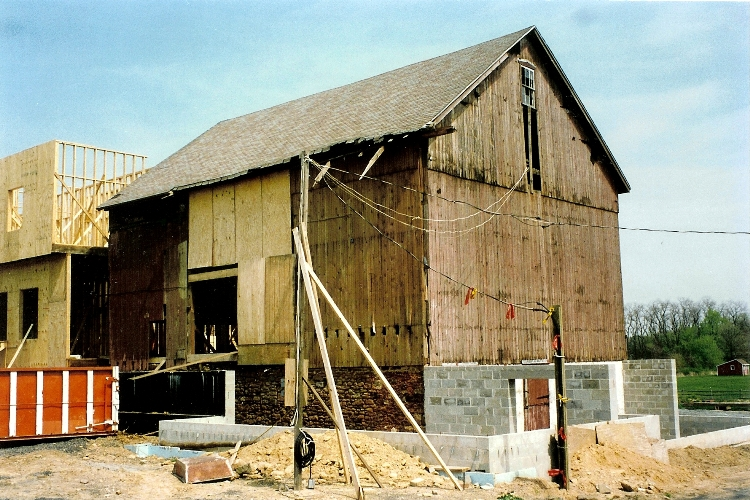 Barn during renovation